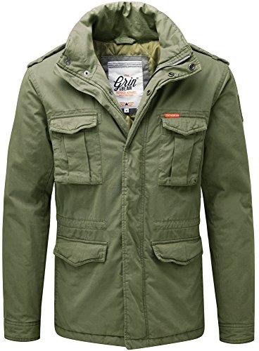 Grin&Bear Herren Slim fit Vintage Feldjacke grün Größe L AK70
