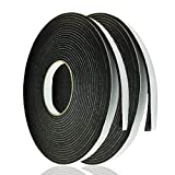 Adhesive Foam Tape Weather Strip for Doors Sticky Foam Strip Insulation Soundproofing Tape...