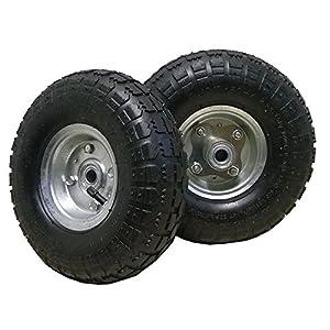 2 neumáticos de repuesto negros 4.1/3.5-4 de 260x 85mm para carretilla