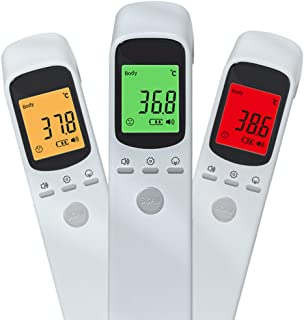 Non-Contact Digital Infrared Thermometer Forehead Ear Instant Accurate Thermometer ? ? Switch with Fever Alarm and Memory