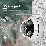 ewrwrwr Cámara de vigilancia 1080P HD WiFi Red inalámbrica con detección de Movimiento visión Nocturna infrarroja cámara IP Impermeable al Aire Libre