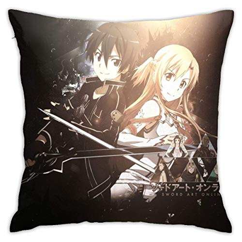 Funda de almohada decorativa de anime espada para sofá, decoración del hogar, sofá, 45,72 x 18 cm