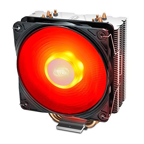 DEEP COOL GAMMAXX 400 V2, Disipador de CPU,con un CPU Ventilador de 120mm Actualizado con LED Rojo,4 Tubos de Calor,TDP 180W