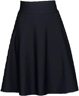 【ACE FACTORY】レディース フレアスカート ひざ丈スカート Aライン プリーツ フェミニン エコバック付き