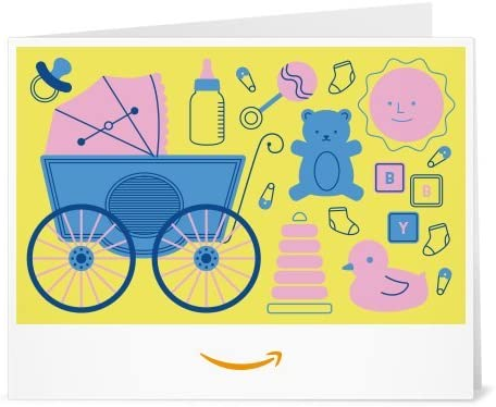 Best Amazon Gift Card - Print - Baby Icons Yellow