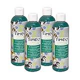 Timely - Shampooing pour chien aux vitamines, réparation intense pour pelage abîmé, (Lot de 4x 250ml)