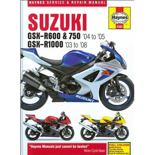 suzuki gsxr 600 wiring diagram amazon com haynes repair manual 4382 for suzuki gsxr600 gsxr750  haynes repair manual 4382 for suzuki