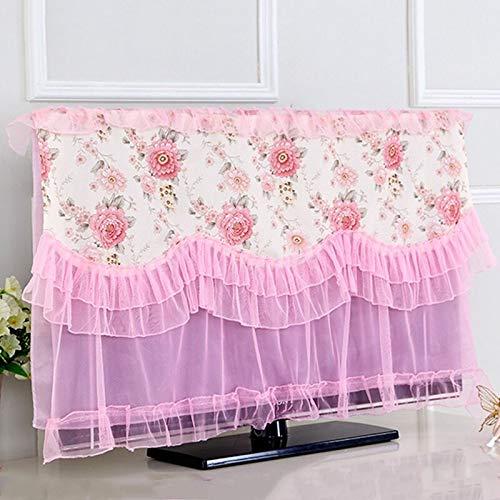 Beste Kwaliteit - TV Covers - Hot Sale LCD TV Monitor Protector TV stof Cover Muur Ophangen TV stof Cover Televisie stofdichte Covers Huishoudelijke koopwaar - door Rocco - 1 PC's Pink - 155x100cm