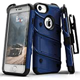 Zizo iPhone 8 Case/iPhone 7 Case [Bolt Series] w/ [iPhone 8 Screen Protector ] Kickstand [12 ft. Military Grade Drop Tested] Holster Belt Clip