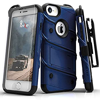 Zizo iPhone 8 Case/iPhone 7 Case [Bolt Series] w/ [iPhone 8 Screen Protector ] Kickstand [12 ft Military Grade Drop Tested] Holster Belt Clip
