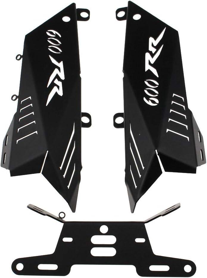 Motocicli accessori Portatarga Fit For HONDA CBR600RR CBR 600 RR 2007-2012 08 09 10 11 Motorcycle Fender Eliminator Staffa Targa di immatricolazione Color : Black
