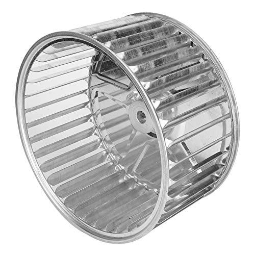 Rueda de soplador de secador, una rueda de soplador de metal con fijación de tornillo de dirección, hoja galvanizada fácil de instalar para ventilador centrífugo de alas múltiples Mecánico