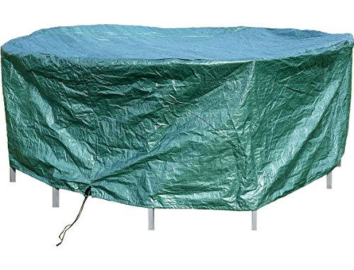 Royal Gardineer Trampolin Abdeckung: Gewebe-Abdeckplane für runde Gartentische, 210 x 76 cm (Ø x H) (Trampolin Abdeckung Winter)