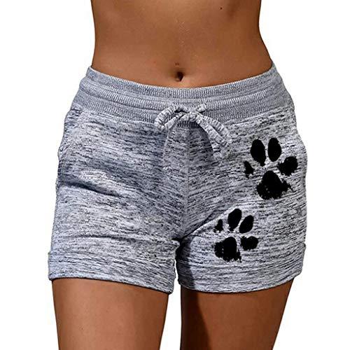 HFStorry Mode Frauen Schnelltrocknende Casual Sport Shorts Drucken Elastische Kurze Yogahose Damen Sport Dance Fitness Yoga Hot Pants aus Baumwolle