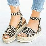 EVR Sandalias Mujer Verano Zapatos de Plataforma Cuña Zapatos de Boca de Pescado Playa Zapatillas Sandalias de Punta Abierta Fiesta Roman Tacones Altos Sandalias,02,41