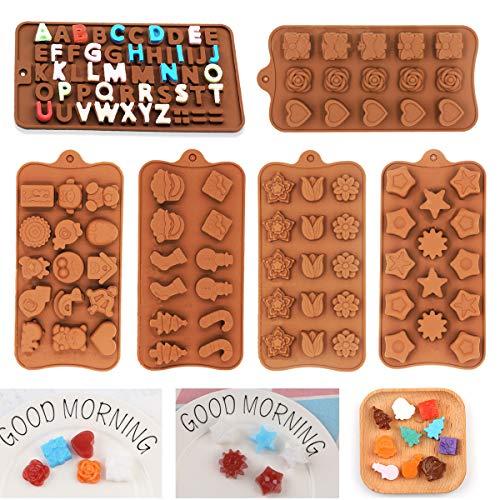 SNY Moldes para Bombones de Silicona,Silicona Moldes de Chocolate Antiadherentes,Molde de Revestimiento Antiadherente Extraíble,Moldes de Chocolate,para Decoración de Pasteles