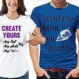 Impresión personalizada de la camiseta de la transferencia impresa para las telas claras y oscuras personalizadas A6, A5, A4, por favor vea la descripción