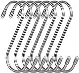20 Ganchos en forma de S, Gancho en S de acero inoxidable, Ganchos para colgar en forma de S con tapa protectora, para cocina, baño, dormitorio y oficina.