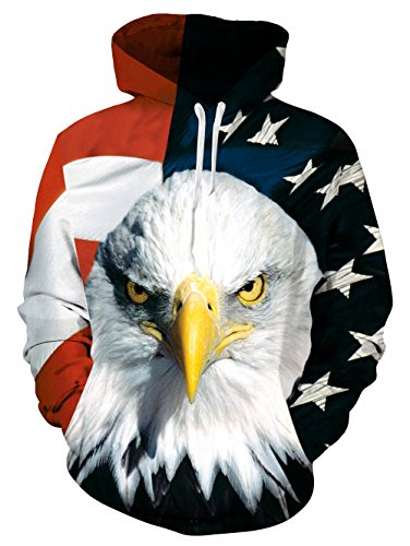 American Flag Eagle Patriotic Mens Pullover Hoodie Hooded Sweatshirt Eagle 1 Medium 2017 Style Eagle 1 2017 Style Eagle 1 Medium