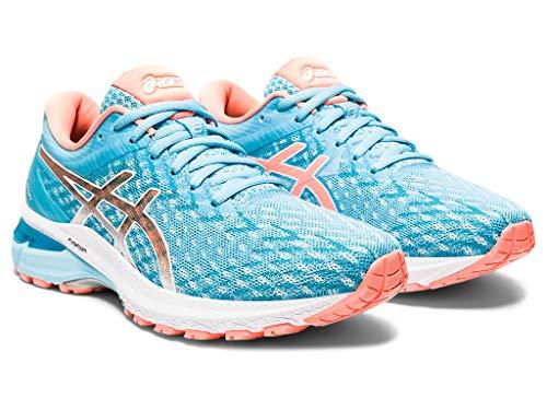 Asics GT-2000 8 - Zapatillas de correr para mujer, Azul (Ocean Decay/Sun Coral), 42 EU