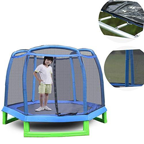 LIN 2.1 M Garden Trampoline - Safety Net - Protection Cover - for Outdoor Garden Entertainment