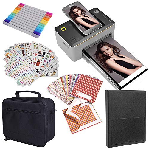 Kodak Dock 4x6 Printer Starter Bundle + Case + Photo Album + Sticker Frames