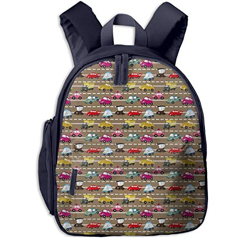 Kinderrucksack Fahrzeuge Verkehr Babyrucksack Süßer Schultasche für Kinder 2-6 Jahre