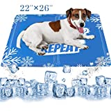 Pawlogist Cooling Mat for Dogs, Waterproof & Scratchproof Gel Cooling Pad for Dogs