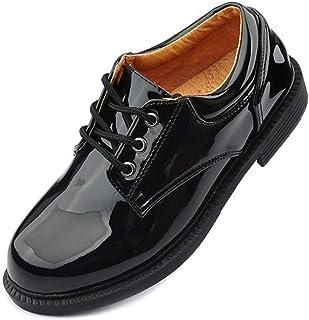 78eea304 Zapatos clásicos de Cuero con Cordones para niños Zapatos Escolares  Elegantes adecuados para Boda Escolar