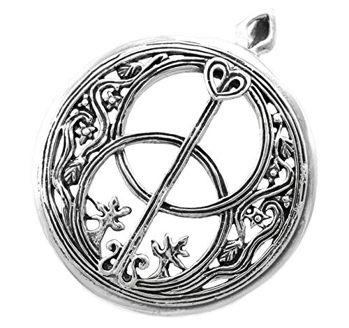 Windalf Britischer Schmuck-Anhänger Avalon Ø 2.8 cm Glücks Amulett Chalice Wells Vintage Kelten Schmuck 925 Sterlingsilber