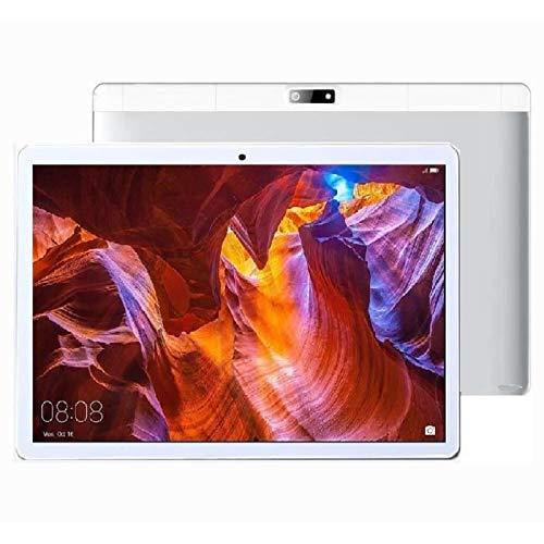 4G Tablet 10 Pulgadas HD WiFi, 2GB RAM, 16GB ROM, Quad-Core, Android,3 Slots(2*Micro SIM+1*SD),Plata