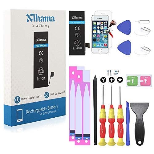 Xlhama Batería Alta Capacidad Li-Ion 1700mAh Compatible para iPhone 5 con...