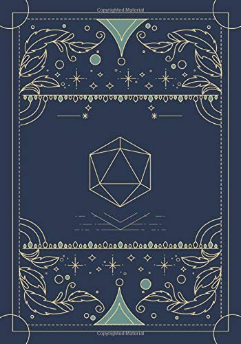 RPG Journal: Mixed paper: Ruled, graph, hex: For role playing gamers: Notes, tracking, mapping, terrain plans: Navy blue dice deco cover design