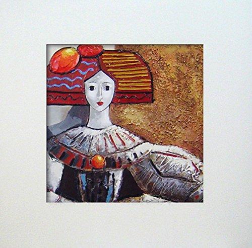 Cuadros Modernos Meninas pintadas a Mano con Marco decoración salón