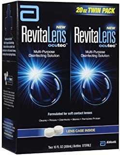 RevitaLens Multipurpose Solution and Lens Case-10oz Twinpack by RevitaLens ocutec