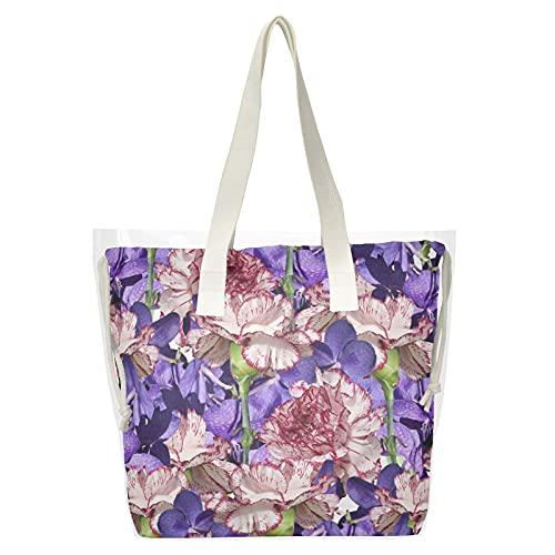 Bolsas transparentes para mujer, 2 en 1, bolsa de hombro, transparente, para compras, playa, para viajes, fiesta, concierto