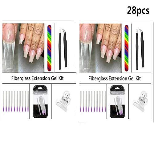 Extension d'ongles Clips de pincement pour ongles en fibre Ensemble d'outils de manucure Outil d'extension d'ongles Excellentes petites idées de cadeaux pour les amis qui aiment faire des arts (2pcs)
