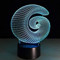 ノベルティ雰囲気3D抽象ランプ幻想視覚子ベビーナイトライトLed照明おもちゃ寝室ホームパーティーの装飾