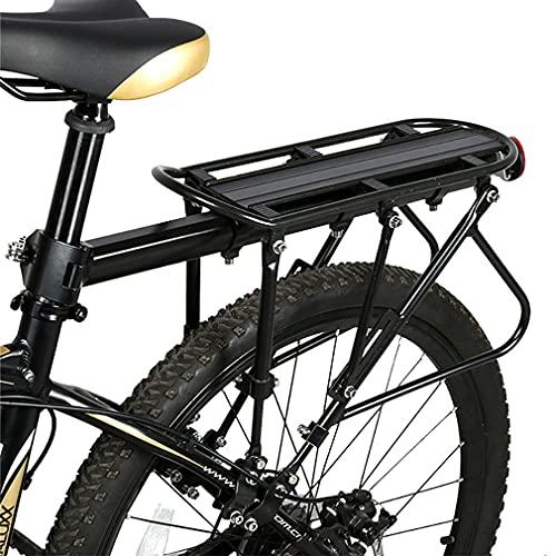 QXFJ Portabultos Bicicleta Trasero Portaequipajes Diagonal Tres Puntos Portabicicletas MontañA con Reflector Adecuado para Tubo Asiento DiáMetro 25-33MM Bicycle Rack MAX 90KG