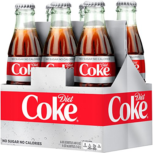 Diet Coke Glass Bottles 4(6 Packs)