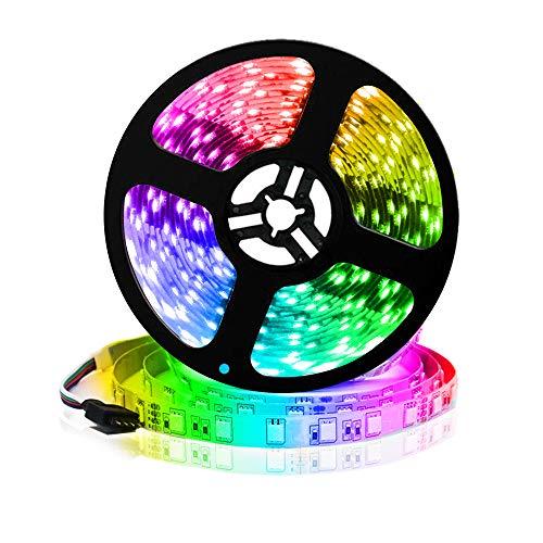 Arote Tiras de Luces LED 24V 5M 60led/M 300 Leds SMD5050 RGB Tira de luz IP20 No Impermeable Barra de luz
