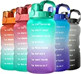 SANKUU 64oz/Half Gallon Motivational Water Bottle with Straw&Time Maker,Leakproof &BPA Free Water Bottle Perfect for Fitness,Gym,Sports (purple/blue gradient)