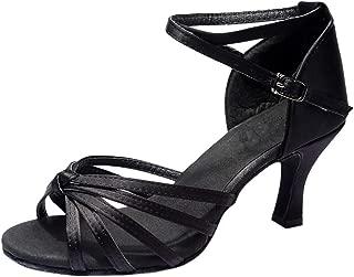 Casual Dancing Shoes for Women, Huazi2 Latino Ballroom Dance Shoes Tango Salsa Professional Training Dance Shoes