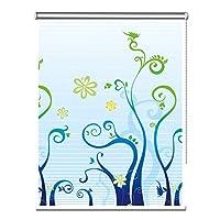 ローラーブラインド 防水ファブリック窓用ローラシェードブラインドブラックアウトは100%、熱絶縁のためにベッドルーム、リビングルーム、バスルーム、オフィス (Size : 60×120cm)