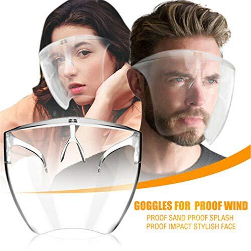 LDKJ Blocc Face Shield Gesichtsschutz,Blocc Face Shield Glasses,Trendige Brille (L)