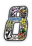 quattroerre 13358Número 8adhesivo Sticker Bomb (10x 7,5cm