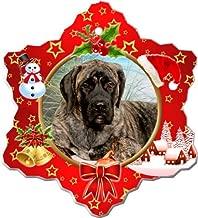 Canine Designs Mastiff Porcelain Holiday Ornament