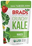 Brad's Plant Based Organic Crunchy Kale, Naked, 3 Bags, 6 Servings Total