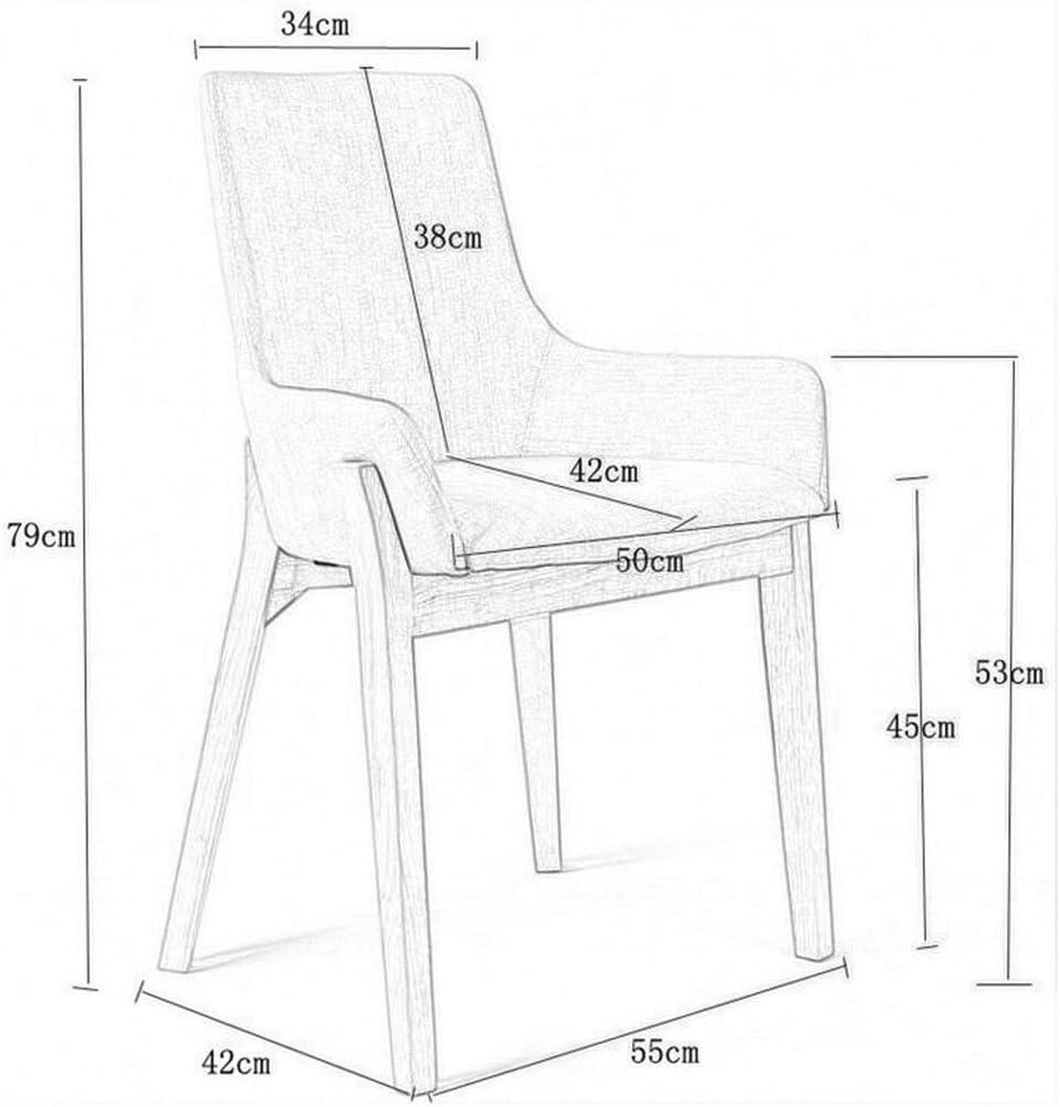 QRFDIAN Chaise de salle à manger Jambes en bois massif naturel avec rembourrage rembourré Designer contemporain Tables Nest (Color : Gray) Gray
