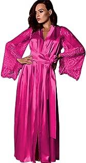 Alalaso Mens Silk Satin Robe Lightweight Spa Bathrobe with Shorts Nightgown Short Sleeve House Kimono Bathrobe Set